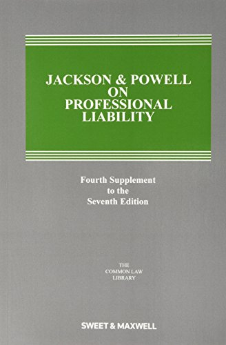 9780414055001: Jackson and Powell on Professional Liability 4th Supplement