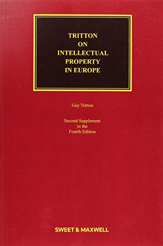 9780414057692: Tritton on Intellectual Property in Europe 2nd Supplement