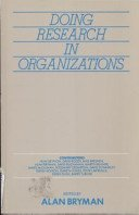 9780415002585: Doing Research in Organizations