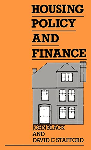 Housing Policy and Finance (0415004195) by John Black; David Stafford