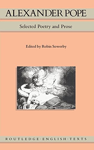 9780415006651: Alexander Pope: Selected Poetry and Prose (Routledge English Texts)