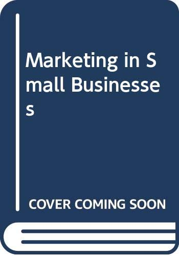 9780415009218: Marketing in Small Businesses