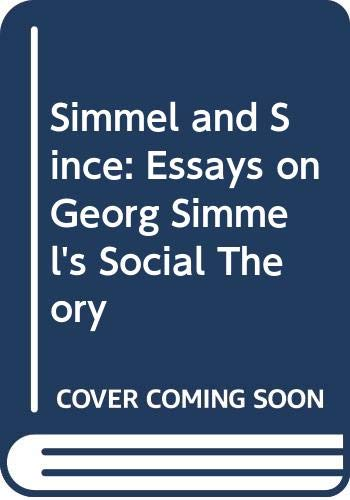 9780415009751: Simmel and Since