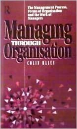 9780415010030: Managing Through Organisation: The Management Process, Forms of Organisation and the Work of Managers