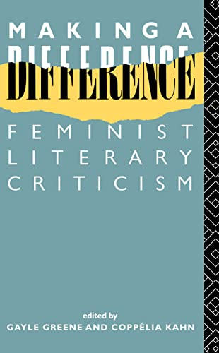9780415010115: Making a Difference: Feminist Literary Criticism (New Accents)