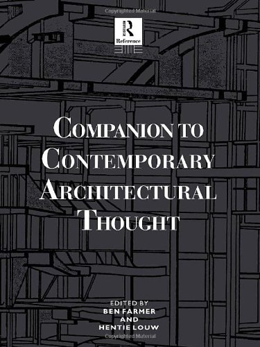 9780415010221: Companion to Contemporary Architectural Thought (Routledge Companion Encyclopedias)