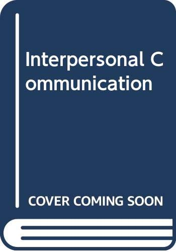 9780415013840: Interpersonal Communication