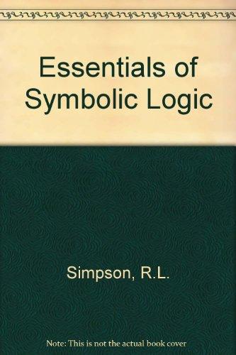 9780415018708: Essentials of Symbolic Logic