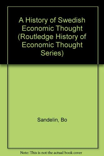 9780415021302: A History of Swedish Economic Thought (The Routledge History of Economic Thought)