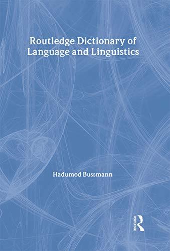 9780415022255: Routledge Dictionary of Language and Linguistics (Harcourt Brace Big Books)