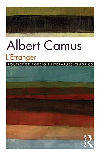 9780415025867: L'Etranger (Twentieth-Century French Texts)