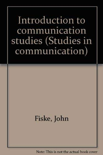 9780415027809: Introduction to communication studies (Studies in communication)