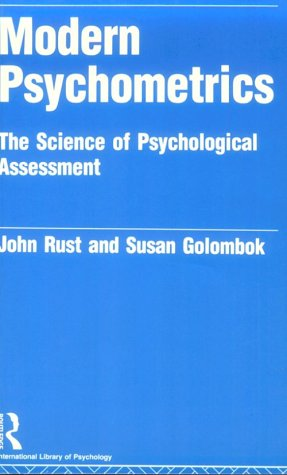 Modern Psychometrics : The Science of Psychological Assessment