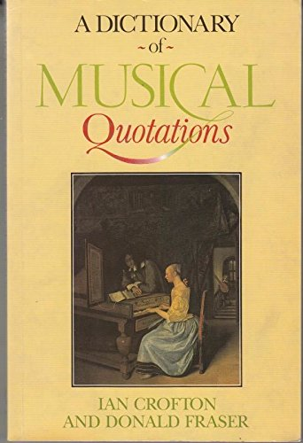 9780415031363: A Dictionary of Musical Quotations