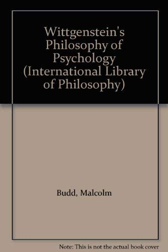9780415034395: Wittgenstein's Philosophy of Psychology (International Library of Philosophy)