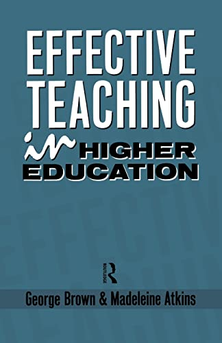 9780415036757: Effective Teaching in Higher Education