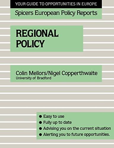 Regional Policy (Education in Society Series): Nigel Copperthwaite