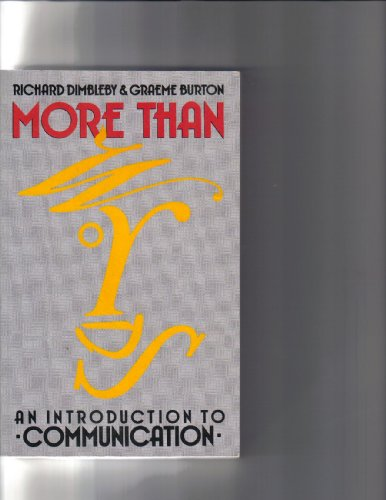 More Than Words: Introduction to Communication: Richard Dimbleby, Graeme