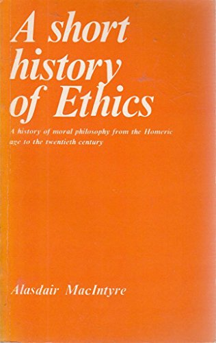 9780415040273: A Short History of Ethics: A History of Moral Philosophy from the Homeric Age to the Twentieth Century