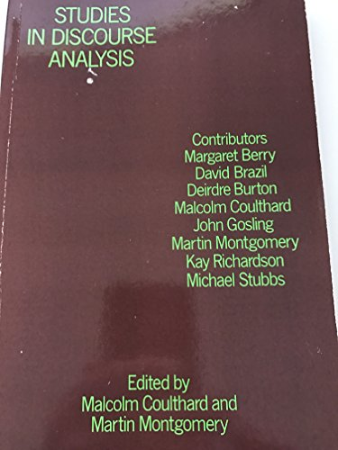 9780415043311: Studies in Discourse Analysis