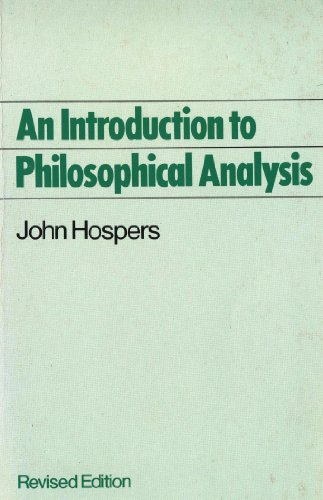 9780415043915: AN INTRODUCTION TO PHILOSOPHICAL ANALYSIS