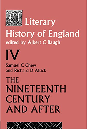 9780415046152: A Literary History of England Vol. 4