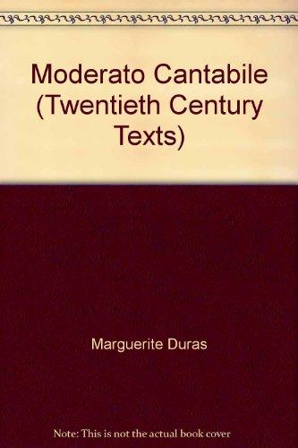 9780415050944: Moderato Cantabile (Twentieth Century Texts)