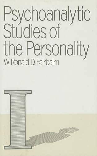 9780415051743: Psychoanalytic Studies of the Personality