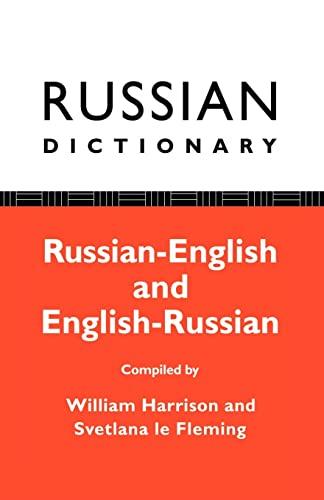 9780415051774: Russian Dictionary: Russian-English, English-Russian
