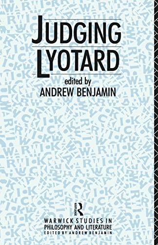 9780415052573: Judging Lyotard (Warwick Studies in Philosophy and Literature)