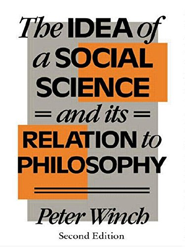9780415054317: The Idea of a Social Science: And its Relation to Philosophy
