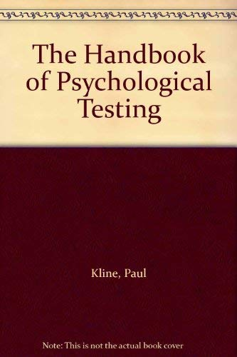 9780415054805: The Handbook of Psychological Testing