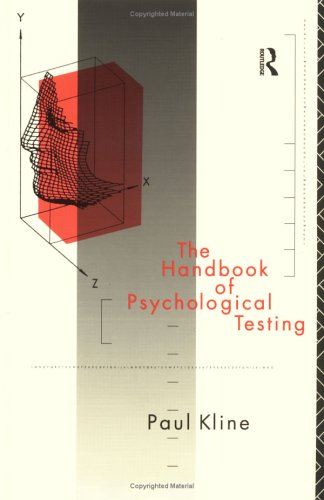 9780415054812: The Handbook of Psychological Testing