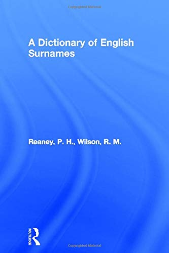 9780415057370: A Dictionary of English Surnames