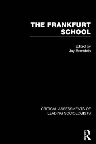 9780415058599: The Frankfurt School: Critical Assessments (Critical Assessments of Leading Sociologists)