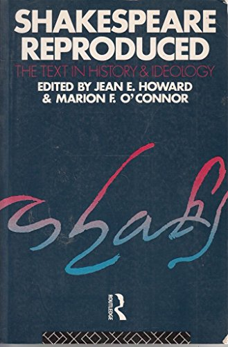 Shakespeare Reproduced (0415058805) by Jean E. Howard