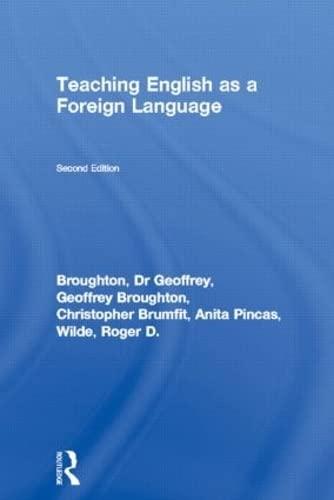 Teaching English As a Foreign Language: Anita Pincas; Christopher