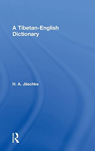 9780415058971: Tibetan-English Dictionary (With an English-Tibetan Vocabulary)