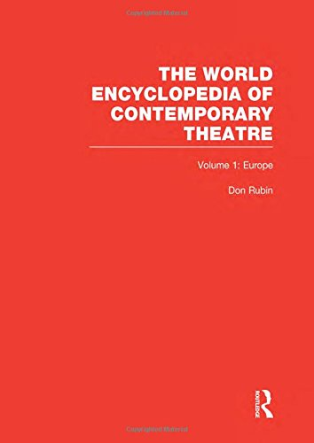9780415059282: World Encyclopedia of Contemporary Theatre: Volume 1: Europe