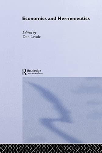 Economics And Hermeneutics