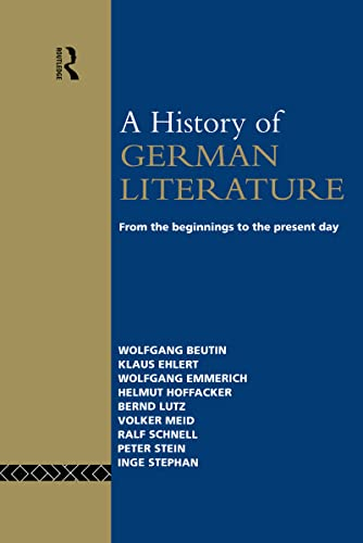 9780415060349: A History of German Literature: From the Beginnings to the Present Day