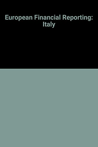 9780415061971: Italy (European Financial Reporting)