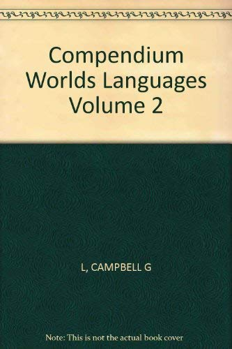 9780415069793: Compendium Worlds Languages V2