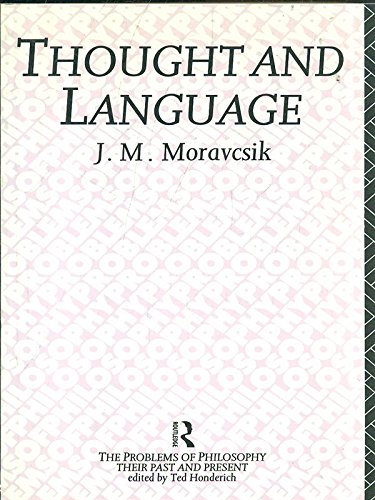 9780415071055: Thought and Language (Problems of Philosophy)