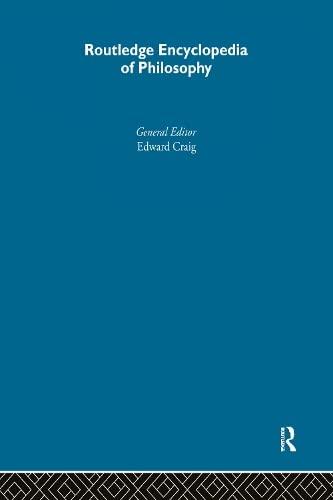 9780415073103: Routledge Encyclopedia of Philosophy (10 Volume Set)