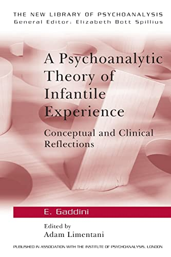 9780415074353: A Psychoanalytic Theory of Infantile Experience: Conceptual and Clinical Reflections (The New Library of Psychoanalysis)