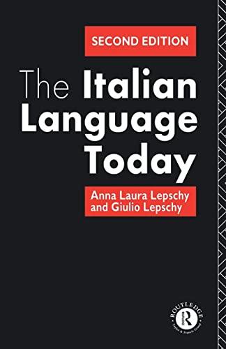 9780415078627: The Italian Language Today