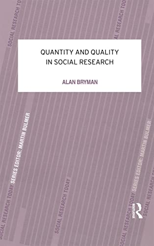 9780415078986: Quantity and Quality in Social Research (Contemporary Social Research)