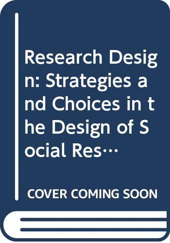 9780415079112: Research Design: Strategies and Choices in the Design of Social Research (Contemporary social research)