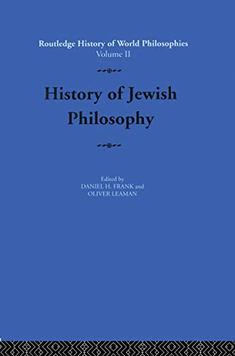 9780415080644: History of Jewish Philosophy (Routledge History of World Philosophies)